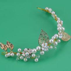 Ashmi - 新娘仿珍珠頭飾