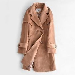 Richcoco - Double Breasted Woolen Coat