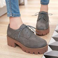 CITTA - Lace-Up Platform Shoes