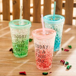 Show Home - Print Tumbler with Straw