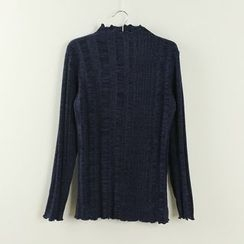 Tangi - Plain Long Sleeve Knit Top
