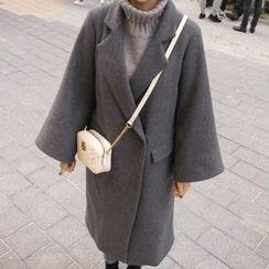 STYLEBYYAM - Wool Blend Notched-Lapel Coat