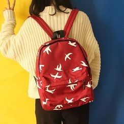 Bolso - Bird Print Backpack