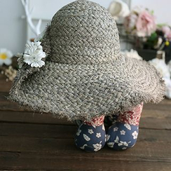 Moonrise Swimwear - Floral Print Straw Hat
