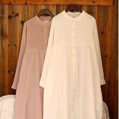 tete - 百褶襯衫裙