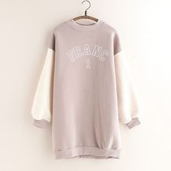 11.STREET - Letter Panel Long Sweatshirt