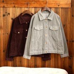 tete - Corduroy Button Jacket