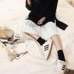 NANING9 - Pleated-Hem Pullover Dress