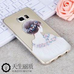 Kindtoy - 少女印花三星Galaxy Note 5保护套