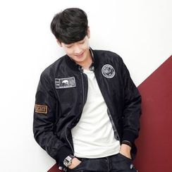 AMPO - Applique Bomber Jacket
