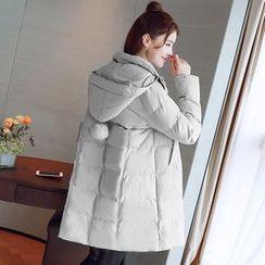 Bera Bera - Hooded Padded Zip Maternity Coat