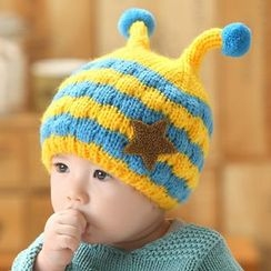POMME - Baby Striped Beanie