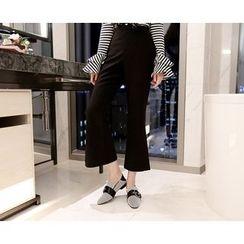 Marlangrouge - Detachable Frilled Suspender Pants
