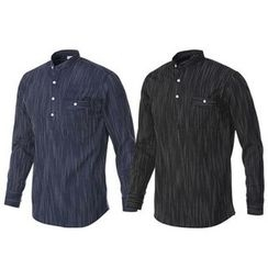 Seoul Homme - Half-Placket Mélange Top