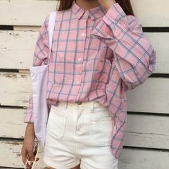 Dute - Check Loose Fit Shirt