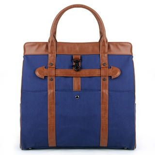 Mr.ace Homme - Faux Leather-Panel Canvas Tote