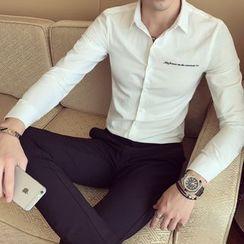 Besto - Lettering Long-Sleeve Shirt