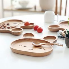 Kawa Simaya - Set: Wooden Plate + Spoon
