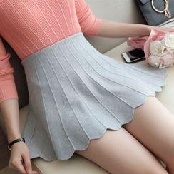 MIUCO - 拼接A字针织裙