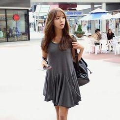 REDOPIN - Ruffle-Hem Sleeveless Dress