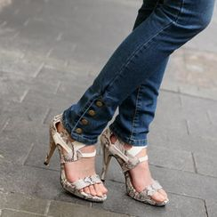 SO Central - Snake Print High Heel Sandals