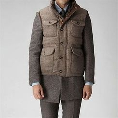 THE COVER - Wool Duck-Down Padded Vest