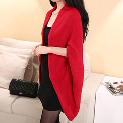 Good Living - Open-Front Batwing Long Cardigan