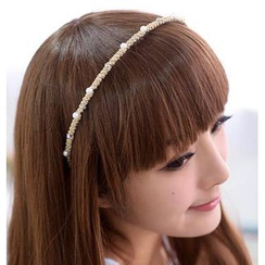 59 Seconds - Faux Pearl & Rhinestone Hair Band