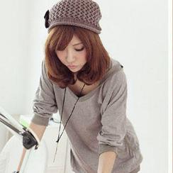 PUFII - 韩版连帽抓口袋连身裙