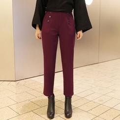 CLICK - Brushed-Fleece Slim-Fit Pants