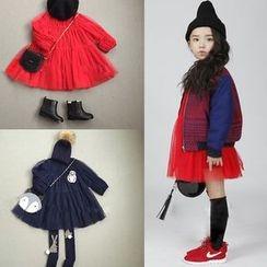 Spring Swallow - Kids Long-Sleeve Mesh Panel Dress