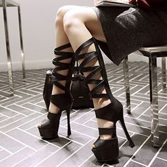 Sidewalk - Platform Stiletto Gladiator Sandals