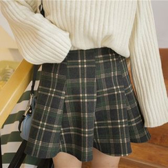 Fancy Show - Plaid Pleated Skirt