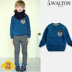 WALTON kids - Boys Brushed-Fleece Lined Sweatshirt