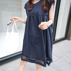 Ceres - Maternity Lace Panel Cap-Sleeve Dress