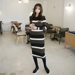 Envy Look - Color-Block Midi Bodycon Dress