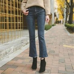 ode' - Fray-Hem Boot-Cut Jeans