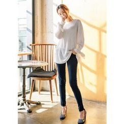 J-ANN - Band-Waist Skinny Jeans