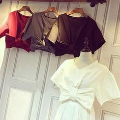Clair Fashion - Bow Front Cropped Top