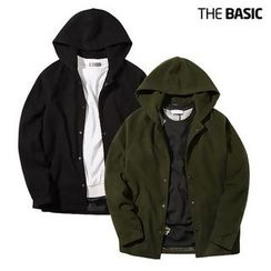 Seoul Homme - Snap-Button Hooded Jacket