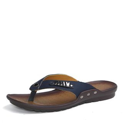 NOVO - Faux Leather Flip-Flops