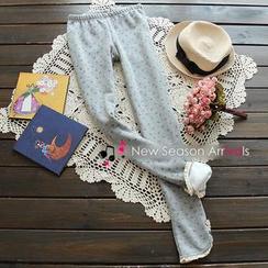 Flower Idea - Patterned Fleece-Lined Leggings