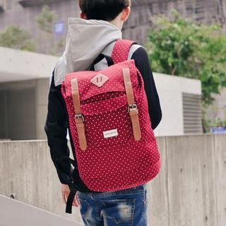 SeventyAge - Dotted Buckled Backpack