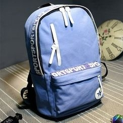 Bagolo - Letter-Panel Canvas Backpack