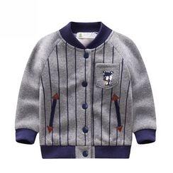 Endymion - 儿童条纹拼接棒球外套