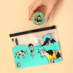 Full House - Printed Cosmetic Bag / Pencil Case (M)