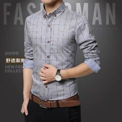 Romantica - Button-Down Long-Sleeve Check Shirt