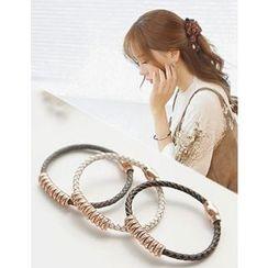 soo n soo - Rhinestone Faux-Leather Bracelet