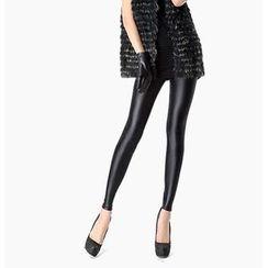 Chuba - Faux Leather Fleece Lined Leggings
