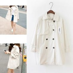trendedge - Double-Breasted Trench Coat